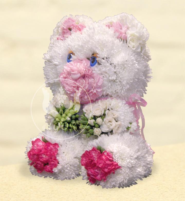 Ведмедик з квітів